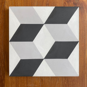 "Concrete Collaborative | Strands Geo X Blocks 8""x8"" Cement Tile"