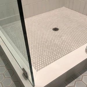 Japanese Glazed Porcelain Penny Tiles