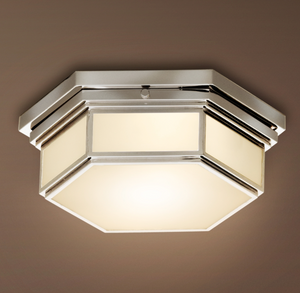 "Restoration Hardware | Barton 15"" Flushmount Ceiling Light"