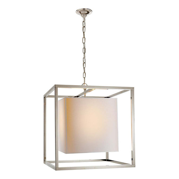 Visual Comfort & Co. | Eric Cohler Caged 2 Light, 22 Inch Polished Nickel Foyer Pendant Ceiling Light