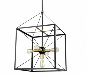 "Millennium Lighting | 5 Light 21"" Wide Chandelier in Black and Heirloom Bronze"