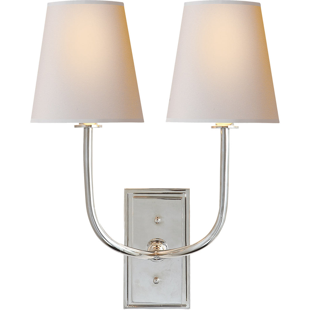 Visual Comfort | Thomas O'Brien Hulton 2 Light 14 Inch Polished Nickel Wall Light