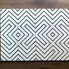 "Load image into Gallery viewer, Clé | Cement Zenith White + Black. 8"" x 8"" Tile"