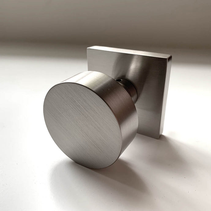 Emtek Assa Abloy Modern Knob Set in Satin Nickel
