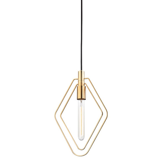 Hudson Valley Lighting | Masonville Pendant In Aged Brass