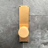 "Emtek 9"" Modern Sideplate Privacy Entry Set Satin Brass"