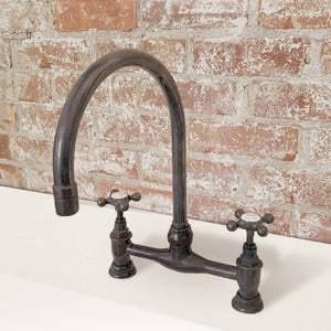 "Barber Wilsons Deck Mount Bridge Faucet, 14"" H."