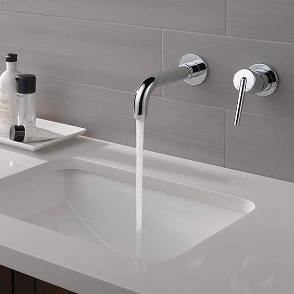 Delta | Trinsic 1.2 Gpm Wall Mounted Bathroom Lav Faucet  Chrome T3559LF-WL