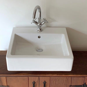 Duravit Vero Ceramic Rectangular Vessel Bathroom Sink