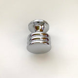 "Restoration Hardware, 3 x 1"" Roundridge Cabinet Knobs, in Chrome."