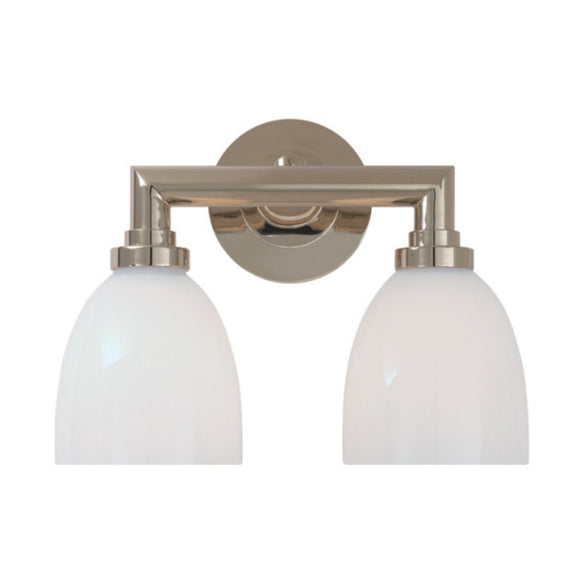 Visual Comfort & Co.| E. F. Chapman Wilton Double Light 13 inch Polished Nickel Bath Wall Light
