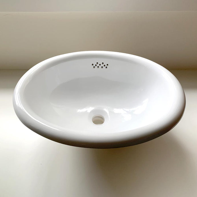 Waterworks Manchester Drop In Oval China Sink 18.25 Inch
