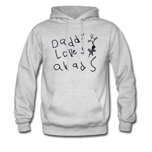 Load image into Gallery viewer, Daddy Loves Quads Drawing Hoodie - ash