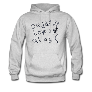 Daddy Loves Quads Drawing Hoodie - ash