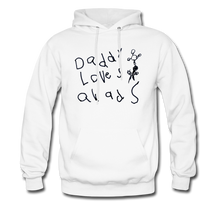 Load image into Gallery viewer, Daddy Loves Quads Drawing Hoodie - white