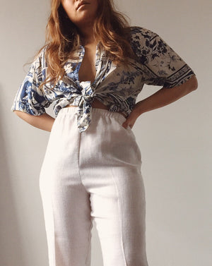 Vintage Silk Printed Shirt