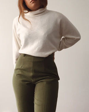 Vintage White Turtleneck