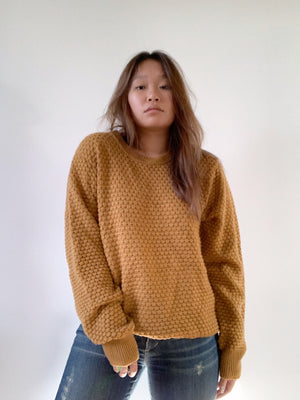 Mustard Chunky Knit Wool Sweater