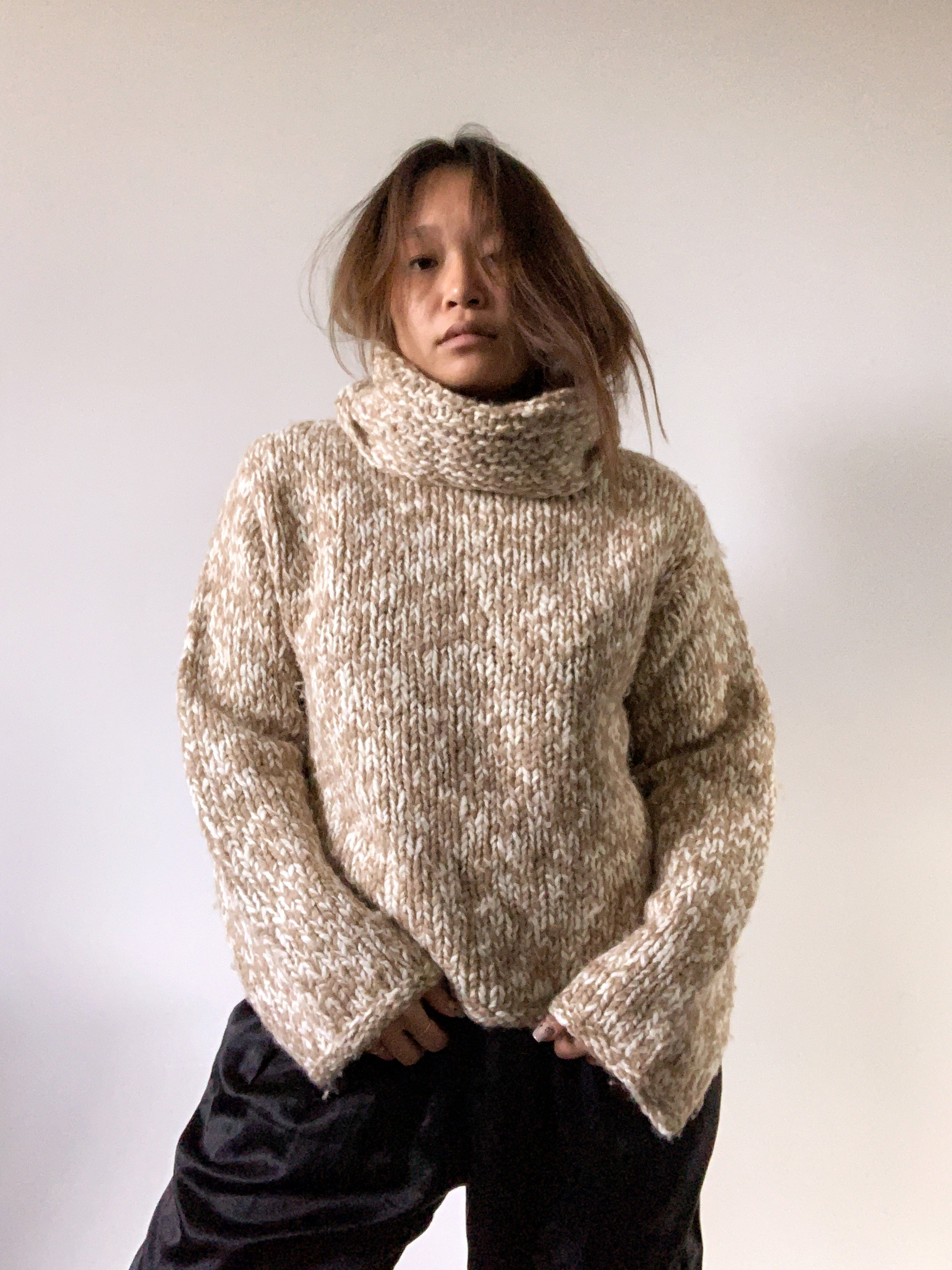 Vintage Handknit Wool Turtleneck