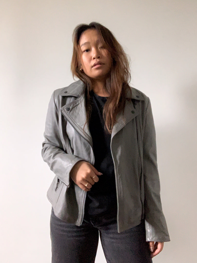 Grey Danier Leather Jacket