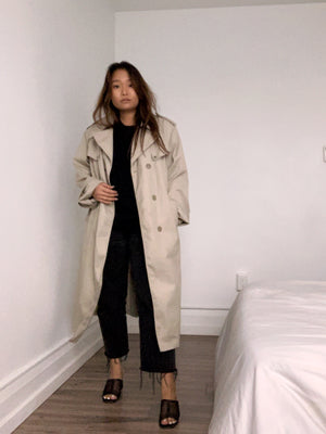 Classic Menswear Trench Coat