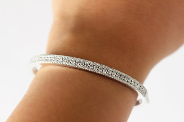 Micro Set Diamond Bangle Bracelets