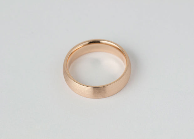 Men's Rose Gold Wedding Band 6MM