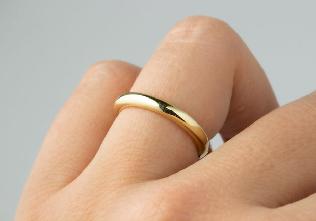 Rounded Domed Yellow Gold Band