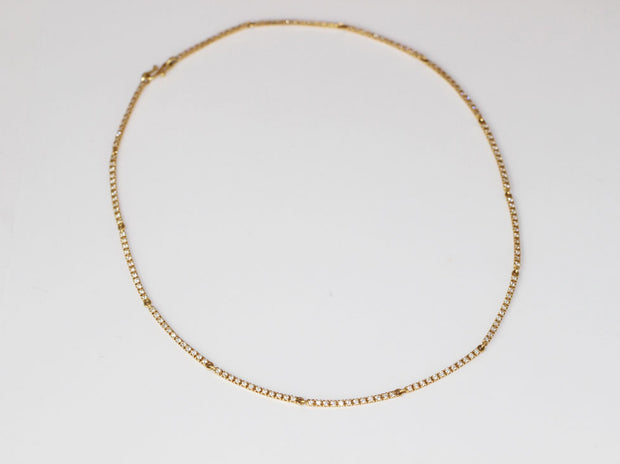 Bar Link Diamond Necklace