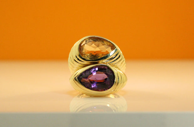 Topaz And Tanzanite Ring