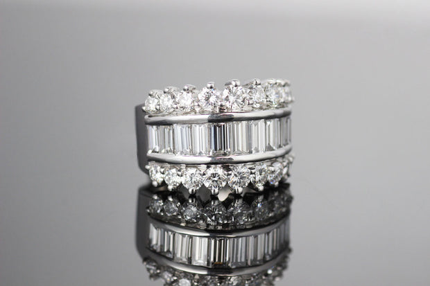 Baguette and Full Cut Diamond Band