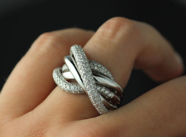 Fashion Pave Diamond Ring