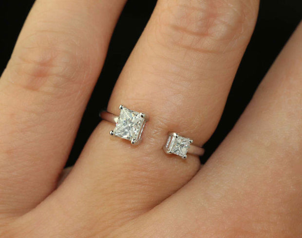 Two Diamond Open Ring