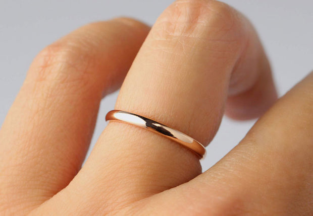 Classic Rose Gold Band in 2mm