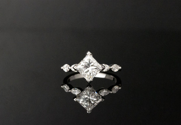 Princess and Marquise Cut Ring