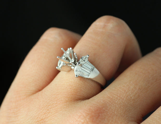 Marquis and Baguette Ring Setting
