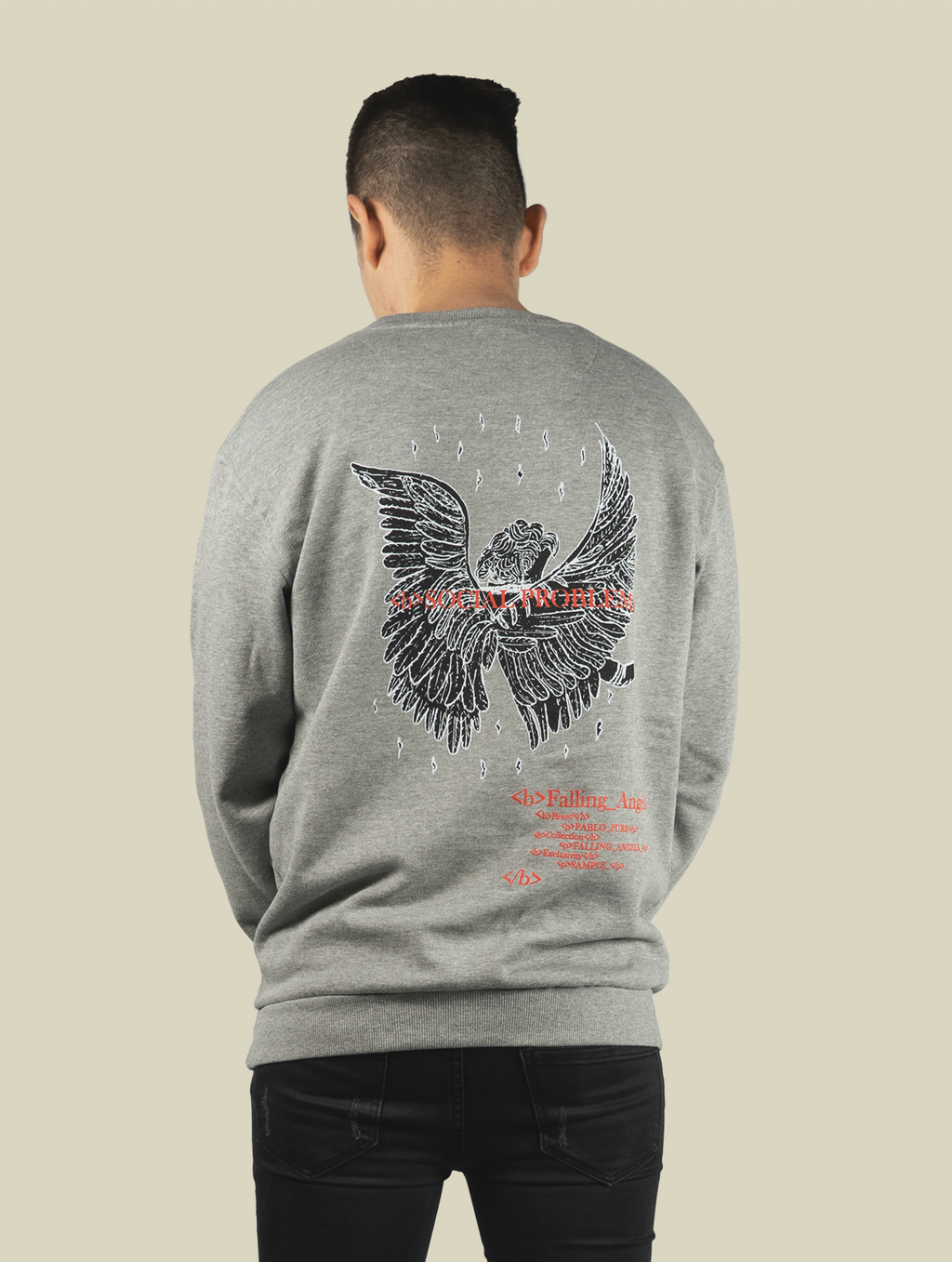 Falling Angels Sweatshirt Grau