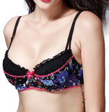 Printed Balconette Bra And Thong Set