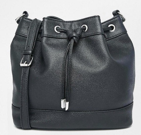 Leatherette Duffle Bucket Bag