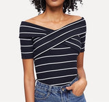 Crisscross Front Ribbed Top