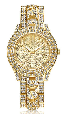 Crystal Encrusted Analog Watch
