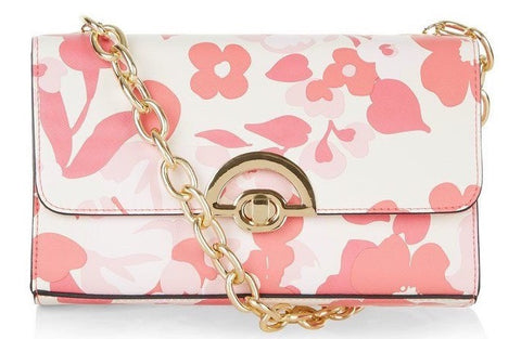 Floral Print Chain Shoulder Bag