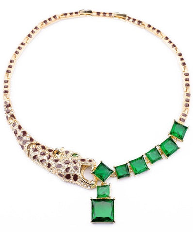 Opulent Tiger Rhinestone Necklace
