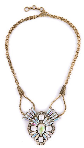 Burnished Crystal Necklace