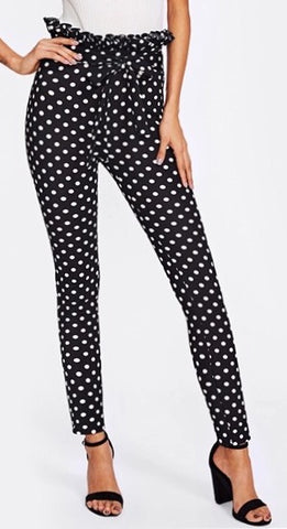 Polka Dot High Waist Pants
