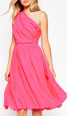 Cross Front Chiffon Dress