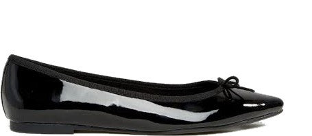Patent Bow Front Ballet Flats