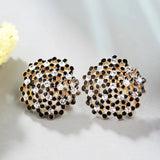 Floral Two Tone Earrings