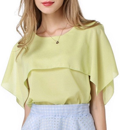 Elegant Cape Blouse
