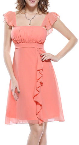 Chiffon Occasion Ruffle Dress